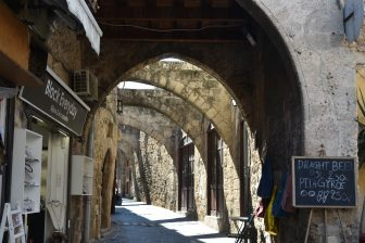 Il nostro giro turistico della citt' vecchia di Rodi
