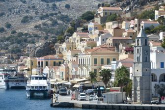 at the town of Symi