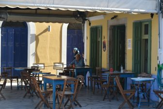 Greece-Symi Island-Gialos-cafe