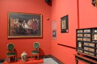 Spain-Zaragoza-Patio de la Infanta-exhibits-painting-chairs-chest