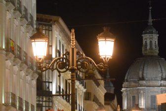 Spain-Zaragoza-Alfonso I street-street lamp-dome
