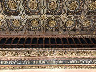 スペイン サラゴサ アルハフェリア宮殿 天井 壁 装飾 ディテール