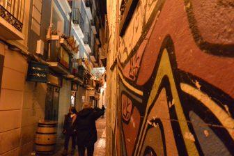 Spain-Zaragoza-El Tubo-alley-mural-people