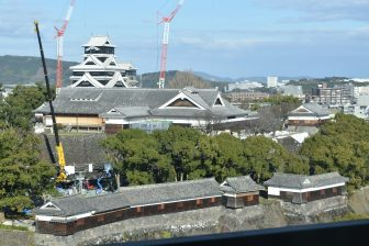 looking over Kumamoto Castle from above