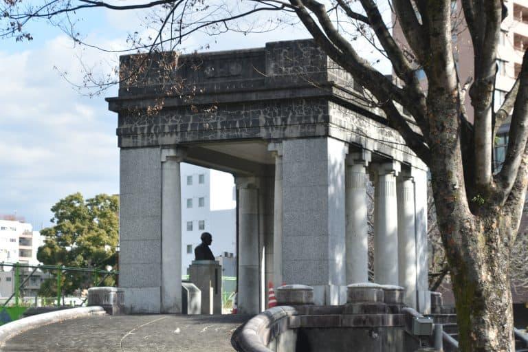 Kumamoto Crafts Center, a park and the house of Koizumi Yakumo