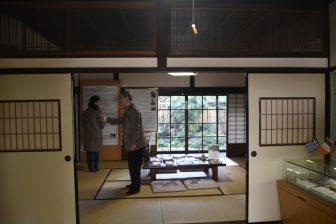 Japan-Kyushu-Kumamoto City-the House of Koizumi Yakumo-inside-curator