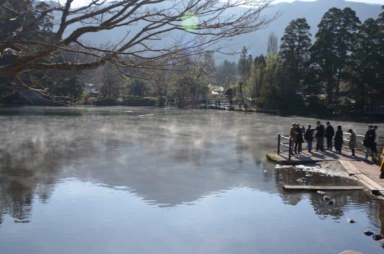 Il lago Kinrinko a Yufuin