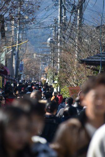 Giappone-Kyushu-Oita-Yuruin-strada-principale-affollatta