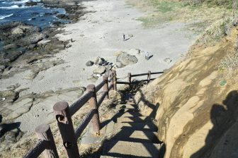 Japan-Kanagawa-Miura-Jogashima-Umanose Domon-staircase-shore