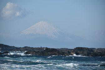 Japón-Kanagawa-Miura-Jogashima-Umanose-Domon-Monte Fuji-océano