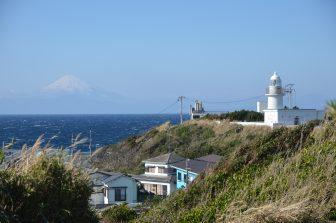Japan-Kanagawa-Miura-Jogashima Island-Jogashima Lighthouse-Mt.Fuji