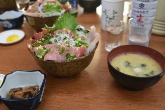Japan-Kanagawa-Miura-Jogashima Island-restaurant-Magurodon lunch