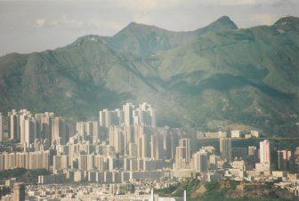 Hong Kong-Hong Kong Island-Rascacielos-Montañas