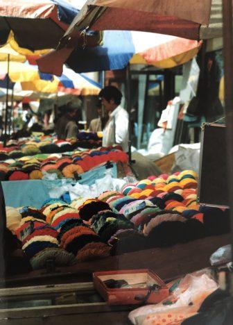 Cina-Lanzhou-Ding Xi Nan Lu-mercato-lana