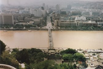 China-Lanzhou-Yellow River-Zhongshan Bridge-from Baitashan Park