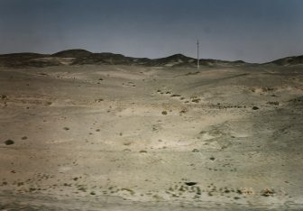China-from Lanzhou to Liuyuan-view from train window-desert