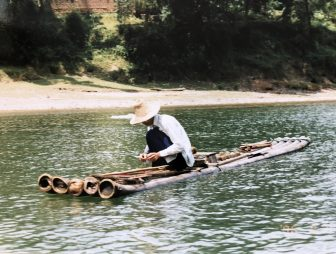 Xhingping-China-Río-Lin-Hombre-Barco