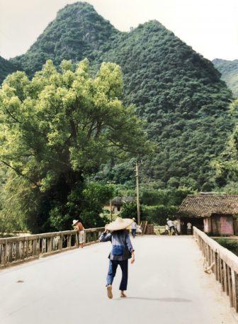 Cina-Xingping-ponte, montagna