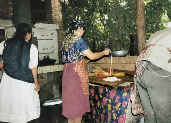 China-Turpan-restaurant-making noodles-people