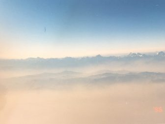 China-between Urumchi and Kashgar-view-from aeroplane