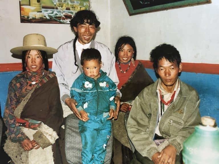夏河で会ったチベット民族の人たちと、帰りの道中