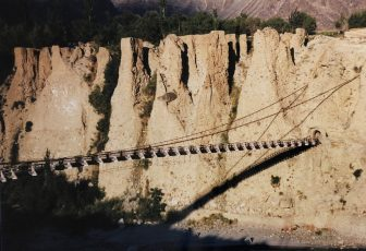 Pakistan-Gilgit-suspension bridge-shadow