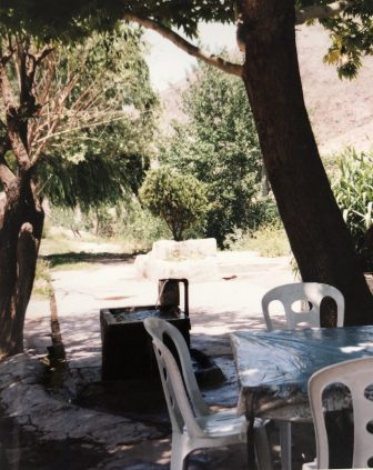 Iran-from Tehran to Bandar e Anzali-table-under the tree-lunch