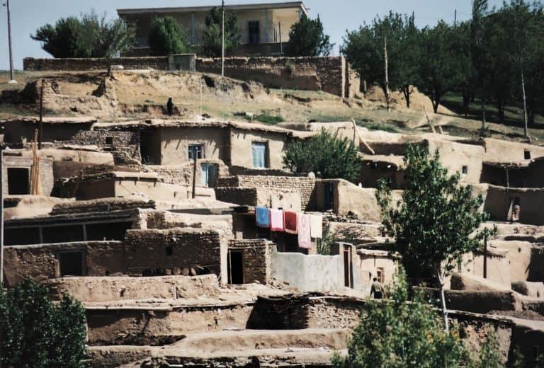 at the ruins of Sasanian Empire near Takab