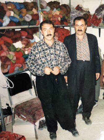 Iran-Takab-wool shop-two men