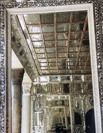 Iran-Tehran-Golestan palace-silver work-mirror