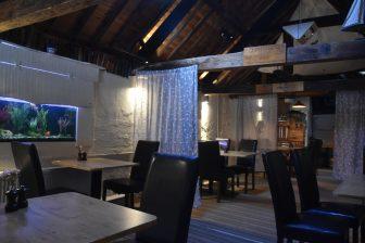 イングランド コーンウォール州 ルー レストラン Old Sail Loft 内装
