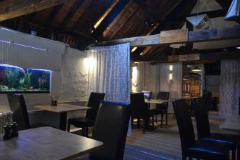 England-Cornwall-Looe-restaurant-Old Sail Loft-inside