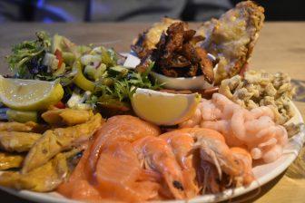England-Cornwall-Looe-restaurant-Old Sail Loft-seafood platter