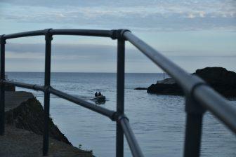 England-Cornwall-Looe-sea-boat-railing
