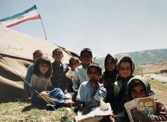 Iran-Marboreh-Bakhtiari-children-school-flag