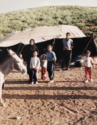 Iran-Marboreh-Bakhtiari-donkey-family-tent