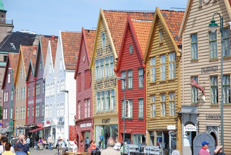 Walking around the town of Bergen