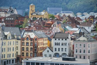 Norway-Bergen-view-buildings-from the Rosencrantz Tower
