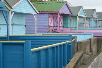 England-Whitstable-beach huts-closed-colours