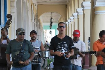 a music band in the town of Cienfuegos, Cuba