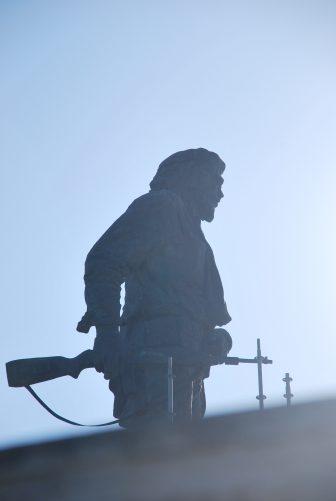 the statue of Che Guevara at the mausoleum in Santa Clara in Cuba