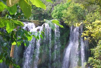 one of the falls in Topes de Collantes in Cuba
