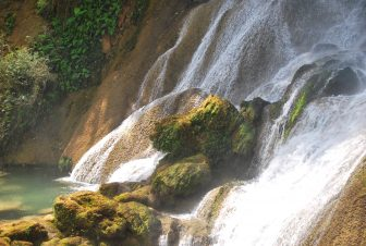 one of the beautiful waterfalls in Topes de Collantes in Cuba