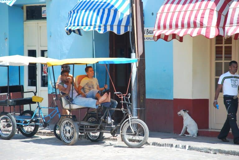 We had a walk in Trinidad in Cuba under the scoaching sun