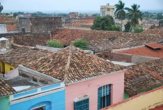 the old roof tiles of houses in Trinidad, Cuba