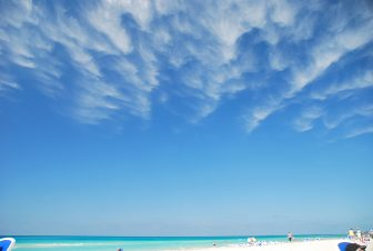 the sky with clouds above the sea in Varadero, Cuba