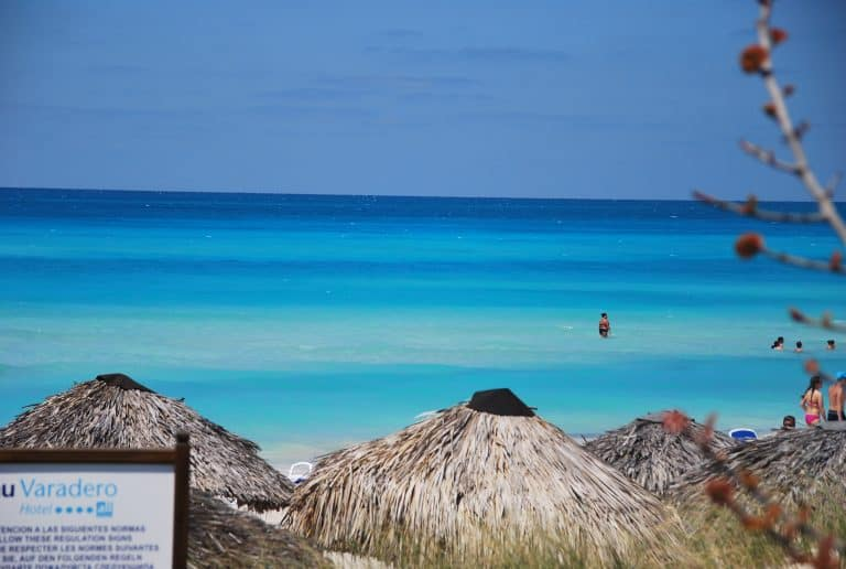 The astonishing fluorescent blue of the sea in Varadero