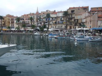 looking over Calvi's port and town