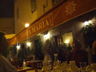 カルヴィの「サンタ・マリア」レストラン