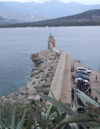 the pier from the citadel in Calvi